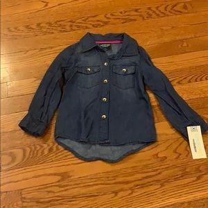 Jean button down top size 3T